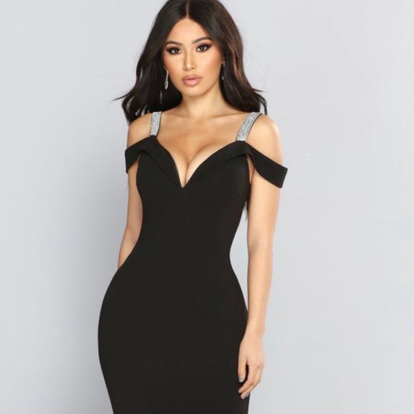 NWT Fashion Nova Rhinestone Dress